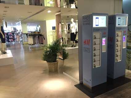 ChargeBox provides In-Store Retail charging solutions