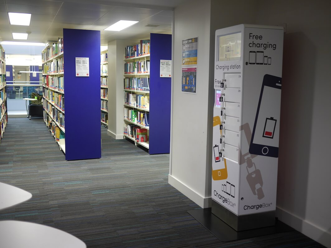 ChargeBox supplies charging solutions to the Educational sector