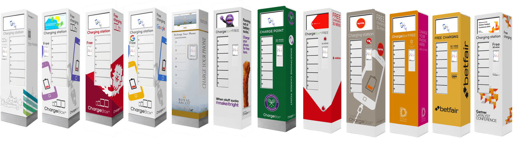 ChargeBoxes with Branded wraps