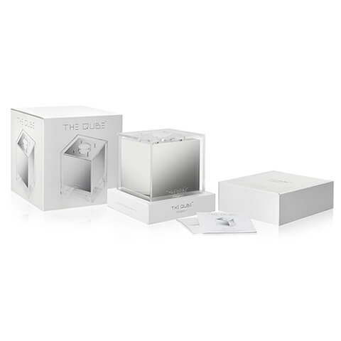 The QUBE product packaging