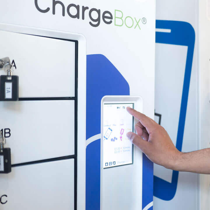 ChargeBox 3 control screen