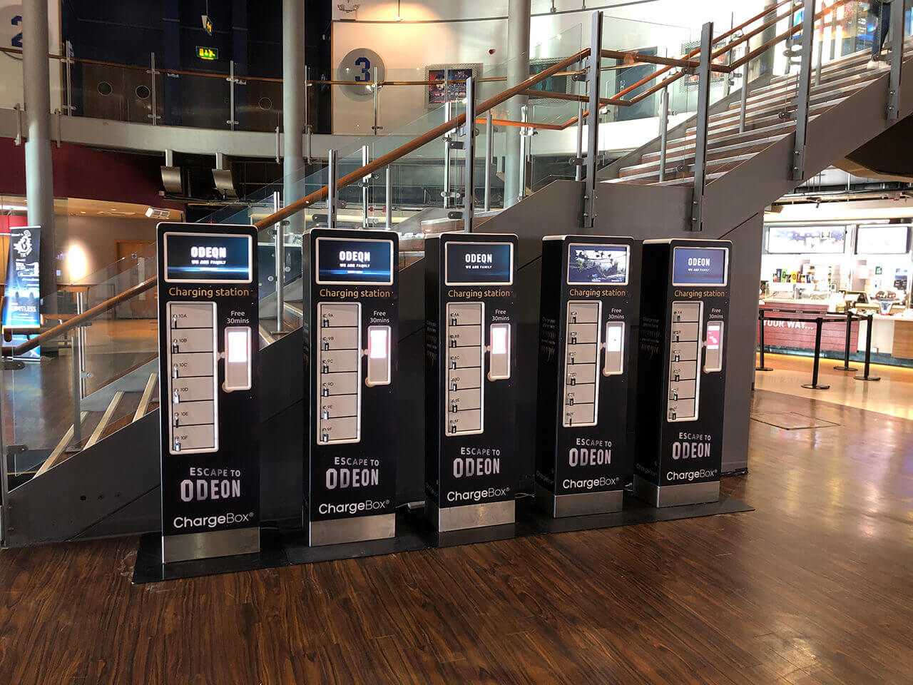 Odeon trials ChargeBox lockers in phoneless screenings initiative